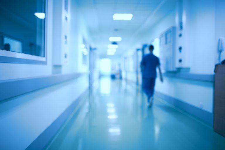 nurse in hospital hallway